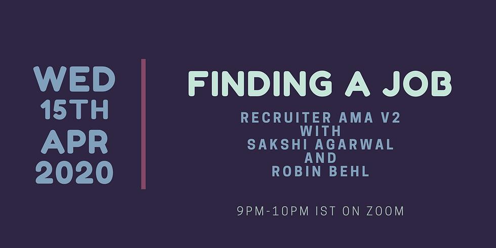 Finding a Job - Recruiter AMA v2