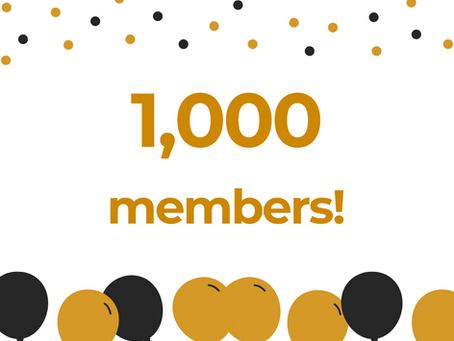 We are now a 1,000 strong!