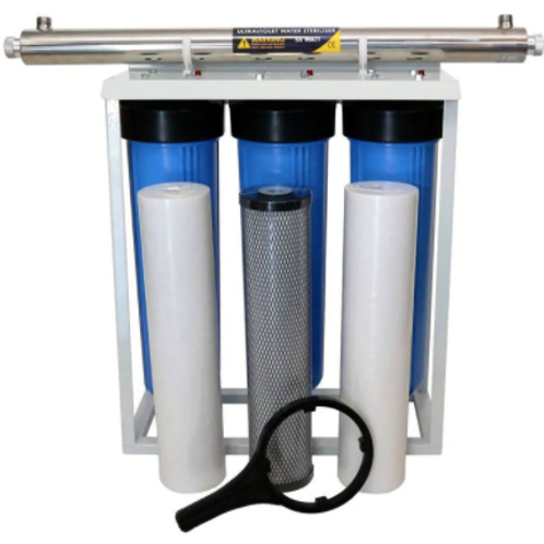4 Stage Big Blue 20 Filter System with 55 Watt UV Light