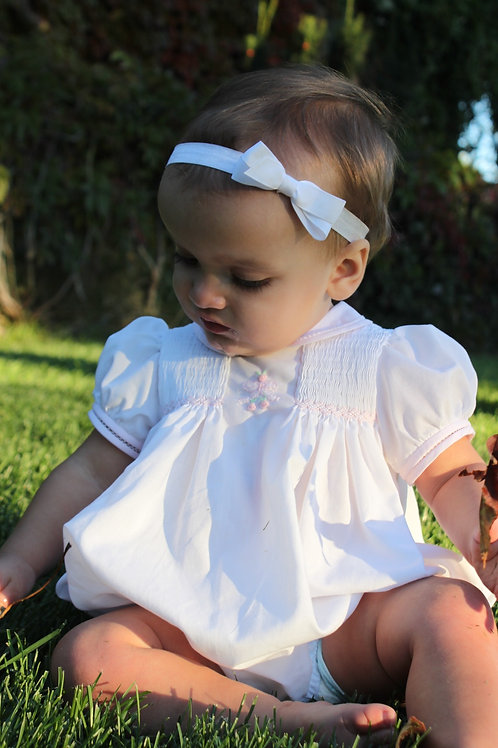Bow Smocked Bubble 3385
