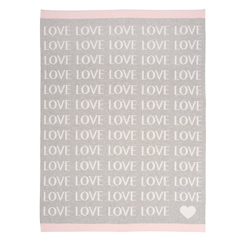 Pink Love Blanket