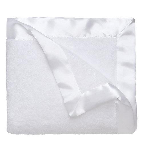 White Plush Blanket Monogram Available 89115
