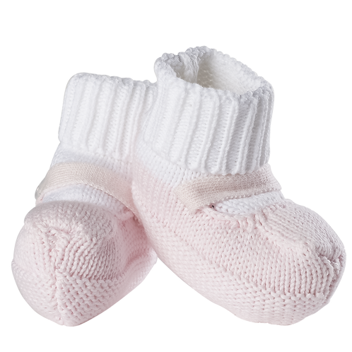 Feltman Brothers Knit Sock Booties in Pink 59