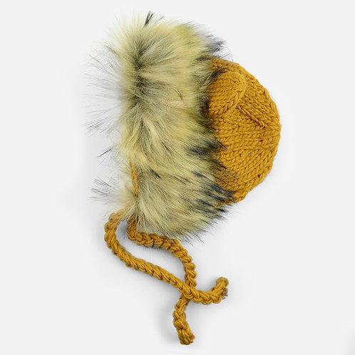 Lion Bonnet in Pumpkin
