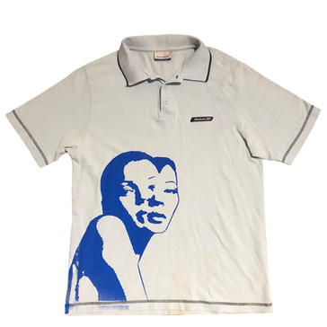 'BABY BLUE, I WANT TO BE NEXT TO YOU' POLO SHIRT
