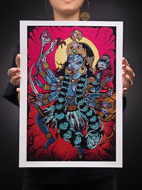 """""""Kali, Remover of Ego"""" a3 Print"""