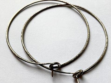 7cm .925 Hoops