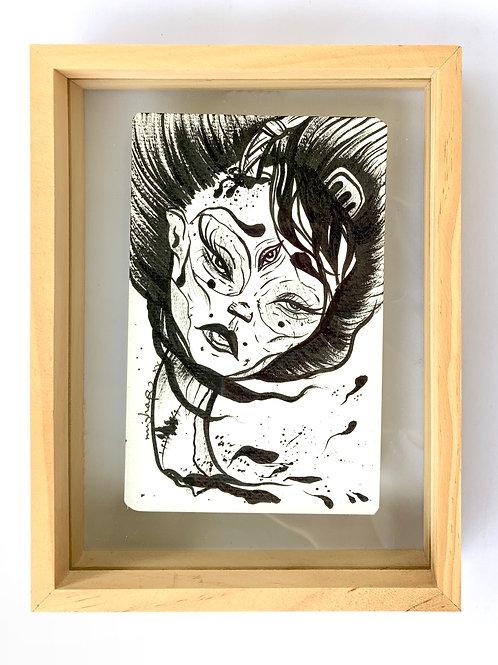 'Blood In' framed illustration