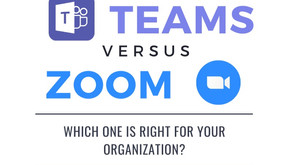 Infographic:  MS Teams VS. Zoom VC