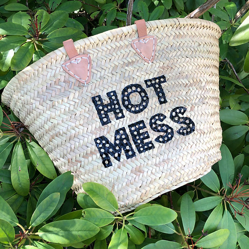 Hot Mess Hand Painted Basket