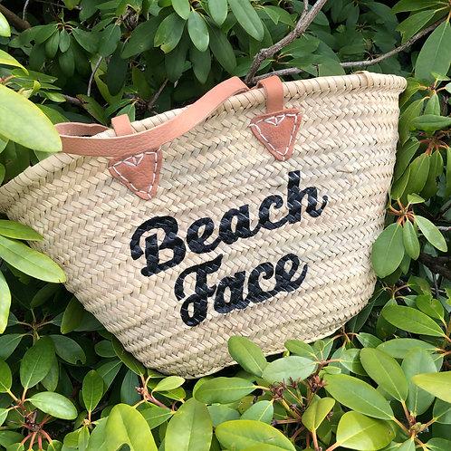 Beach Face Hand Painted Basket