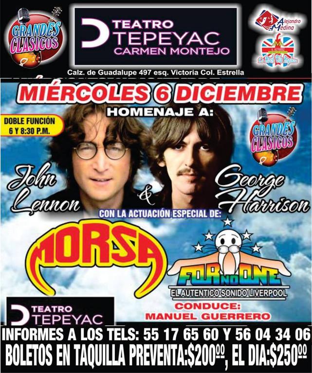 Homenaje Anual a John Lennon y George Harrison en la CDMX