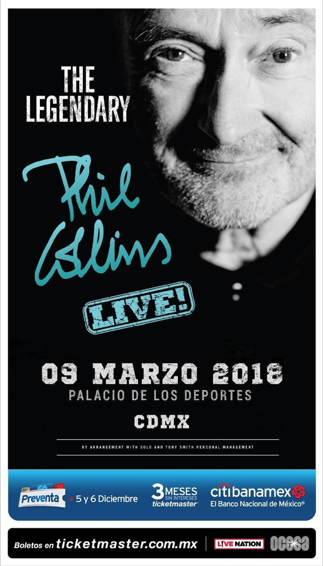 EL LEGENDARIO PHIL COLLINS EN VIVO EN MÉXICO