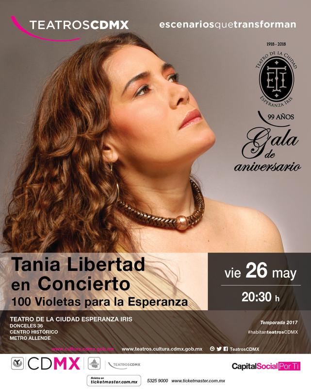 Tania Libertad en el Teatro de la Ciudad Esperanza Iris 26 de Mayo.