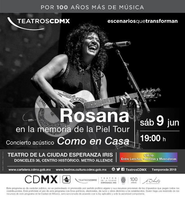 """Rosana regresa a tierras mexicanas con su show acústico""""En la Memoria de la Piel"""". Como e"""