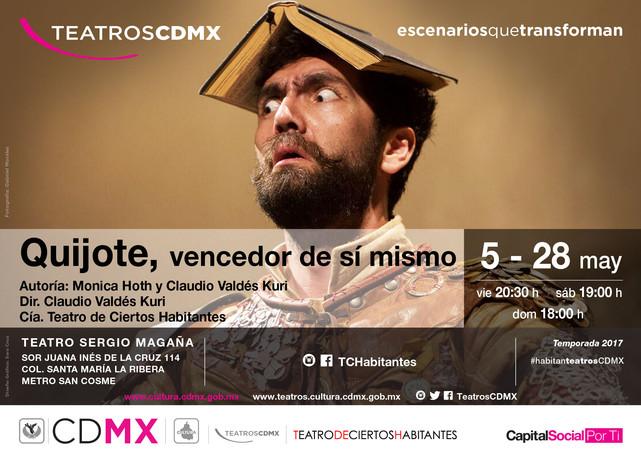 """""""Quijote, vencedor de sí mismo"""" del 5 al 28 de mayo en el Teatro Sergio Magaña"""