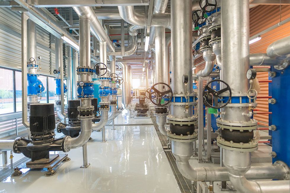 Industrial interior chiller and boiler H