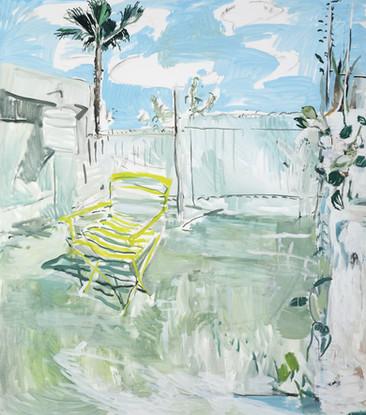 Il giardino di Ludovico 2018, olio su tela 160x140 cm
