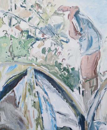 Sul Treia (a Civita Castellana) 2019, olio su tela 60x50 cm
