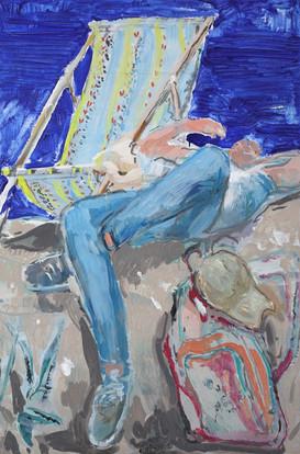 Giulio Catelli, Spiaggia II 2018 olio su tela  120x90 cm
