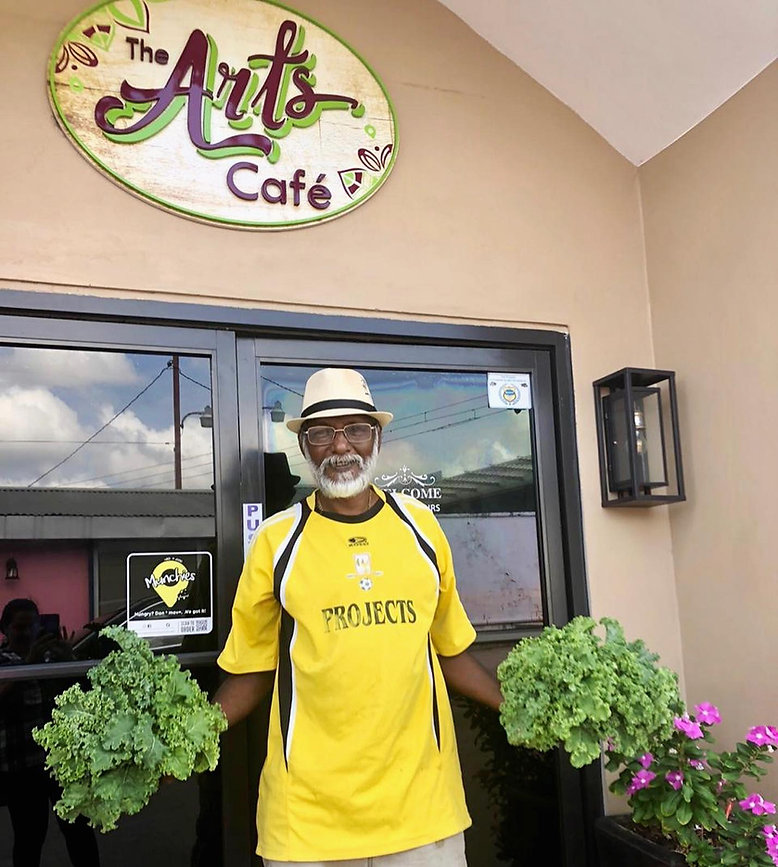 Our farmer that supplies the arts cafe