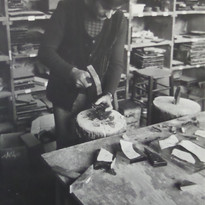 Gérard Hermet, dalle de verre