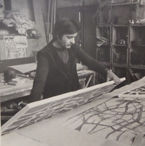 Gérard Hermet atelier dalle de verre