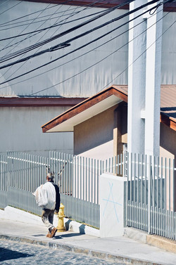 Sloping street Valparaiso