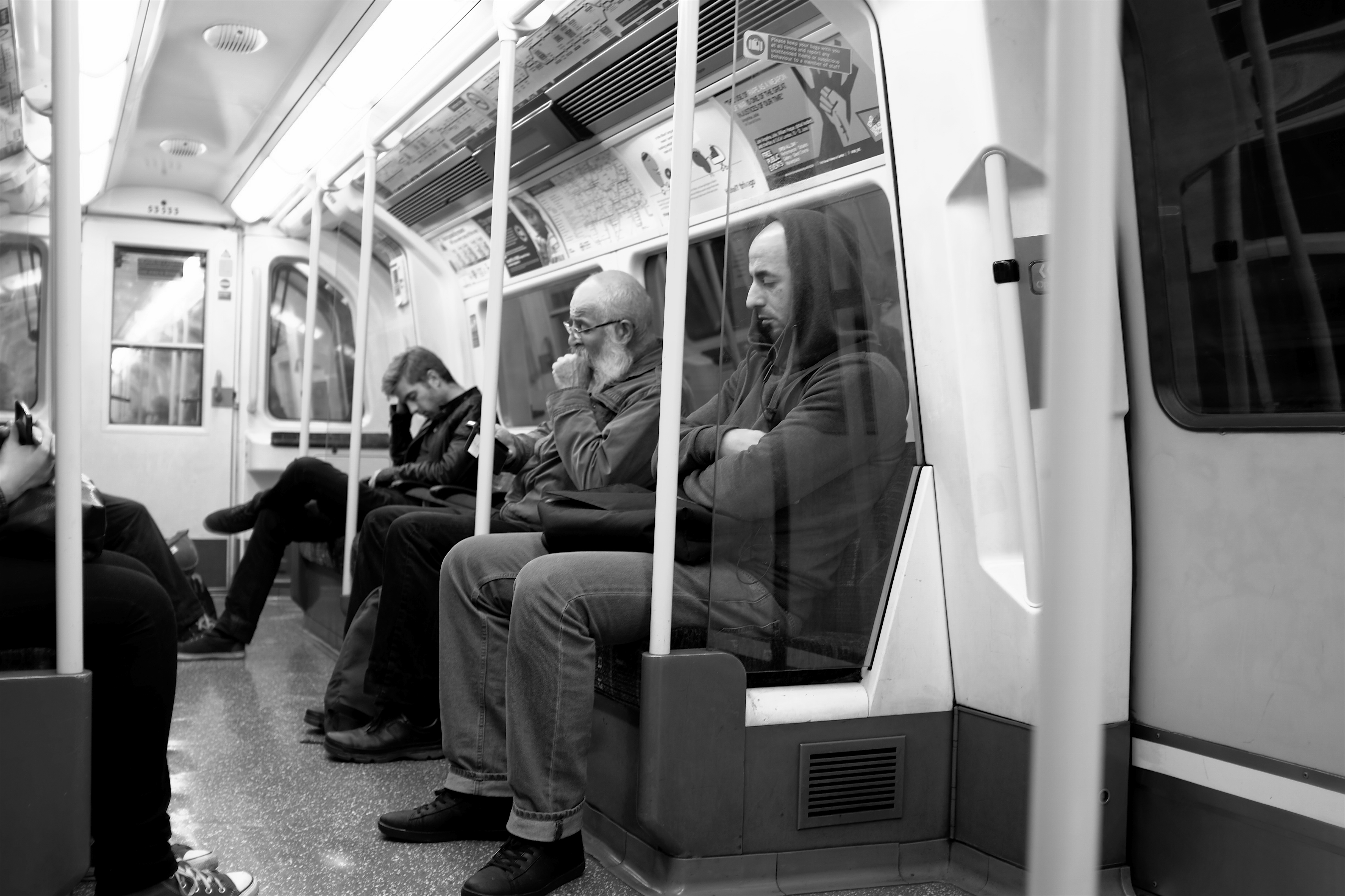 Sleeping on the Tube London