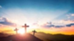 Ascension day concept_The Cross symbol o
