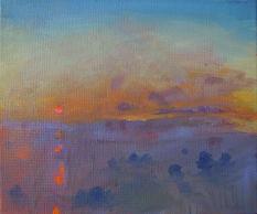 A.MacFaul Dusk oil on canvas 25 x 30cm.j
