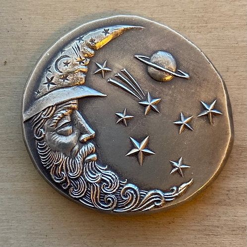 Man on The Moon Silver Art Medal