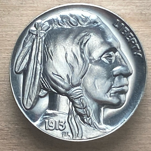 SILVER High Relief Indian Head/Buffalo Tribute