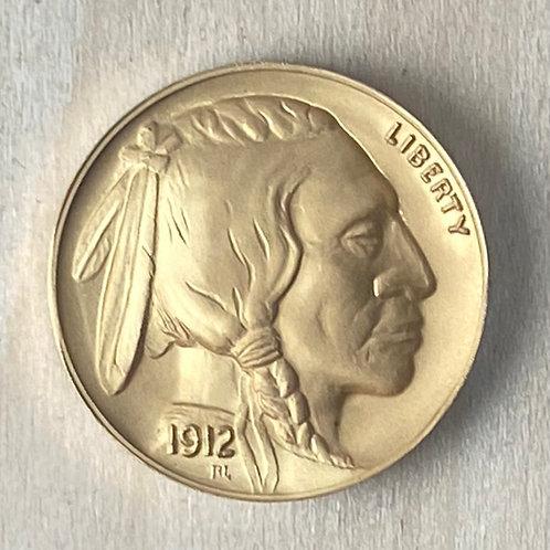 Indian Head/Buffalo tribute in Gold