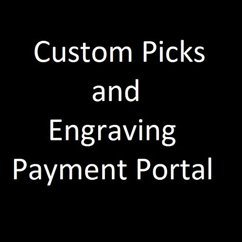 Custom Picks and Engraving Payment Portal