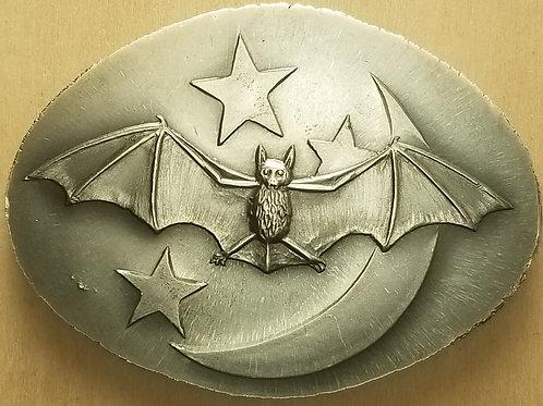Moon Bat Silver Art Medal
