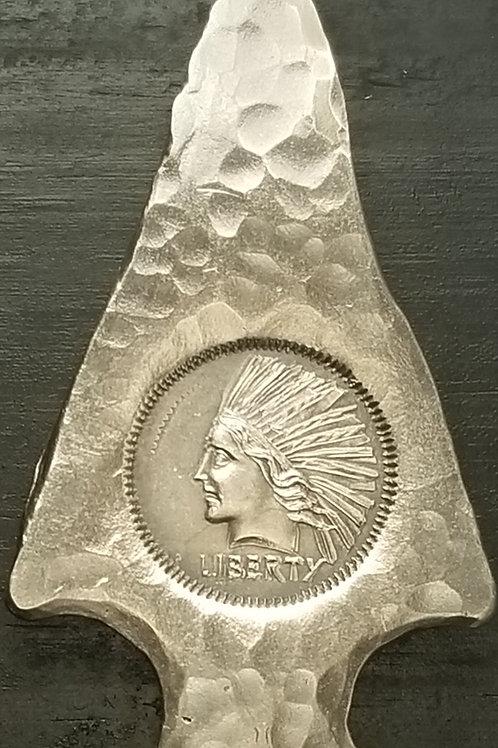 Arrowhead / Indian Head silver bar - Timothy Grat