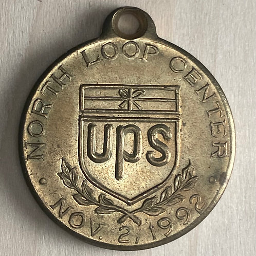 1992 UPS commissioned medal - brass