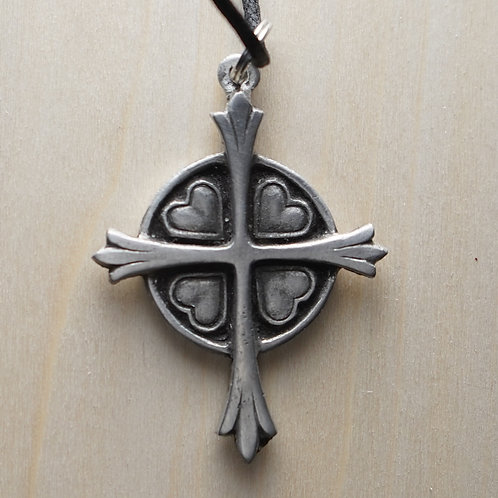 Cross with Heart Pendant