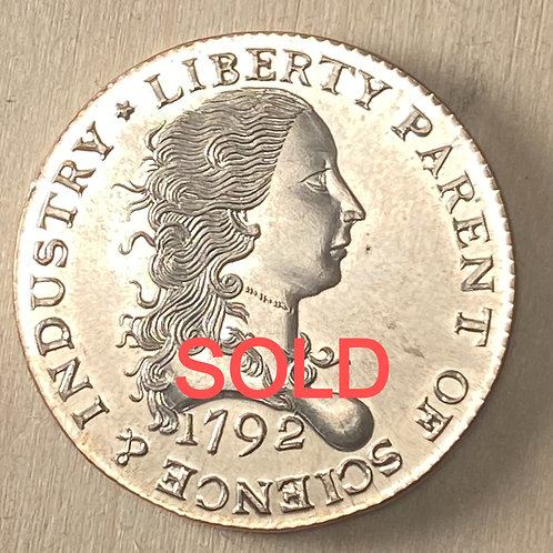Silver 1792 Birch Cent reproduction