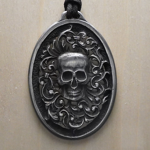 Skull and Scrolls Pendant