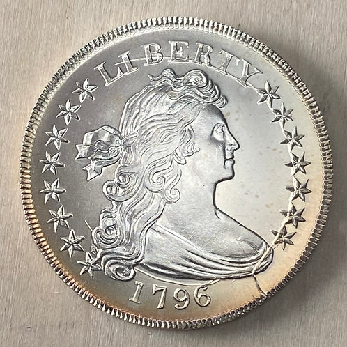 1796 Draped Bust Dollar Major Crack