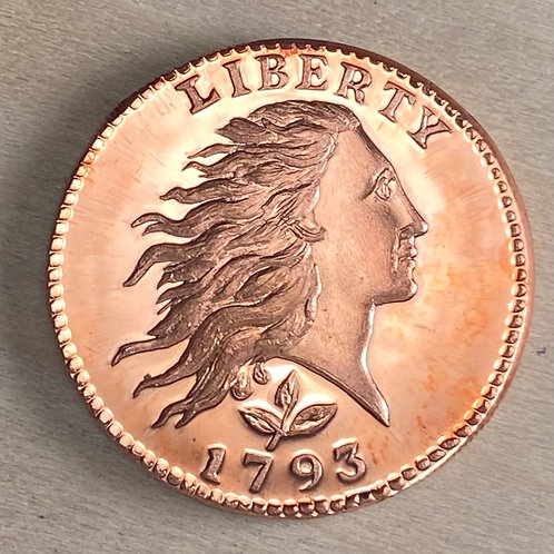 1793 Wreath Cent Proof - Vine and Bar Edge