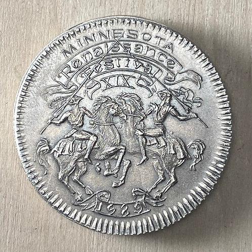 1989 Minnesota Renaissance Festival Medal