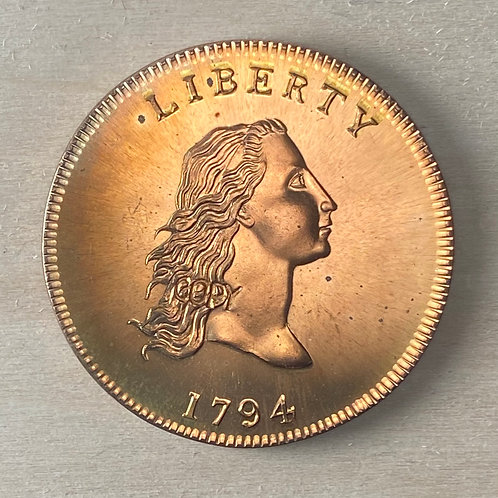 1794 Flowing Hair Dollar reproduction, Bronze, Proof-like