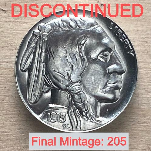 NICKEL Overstruck Jefferson Indian Head/Buffalo Tribute