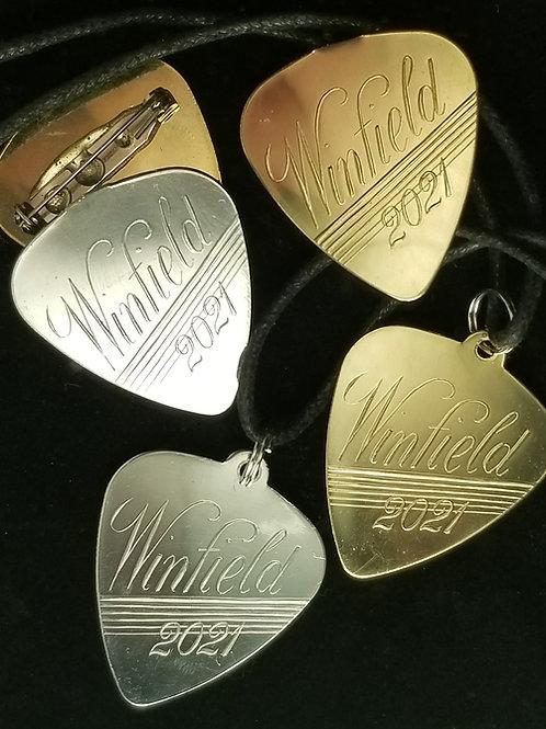 Winfield 2021 flat pick pendant or pin