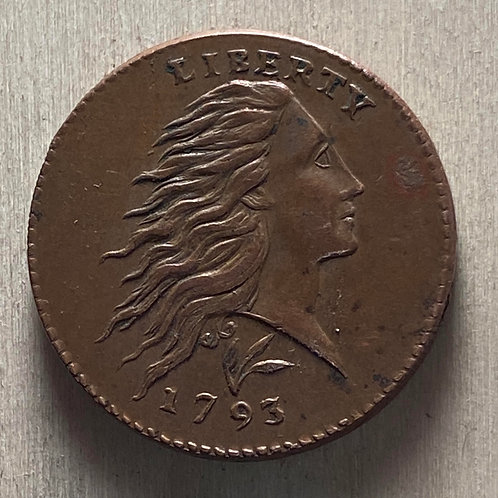 1793 Wreath Cent copper reproduction