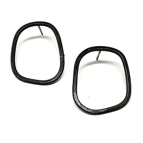 Offset Post Earrings