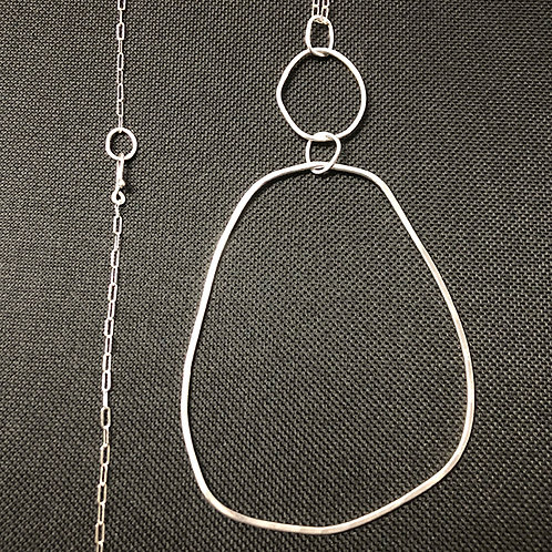 Linked Silver Pendant XL